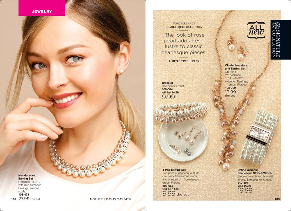 Shop Avon Pearlesque Jewelry Collection