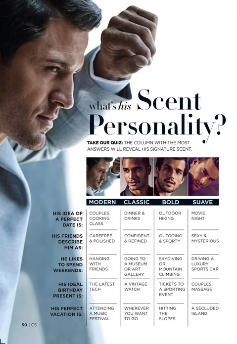 Avon What's His Scent Personality Quiz